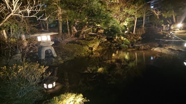熱海荘庭園 夜